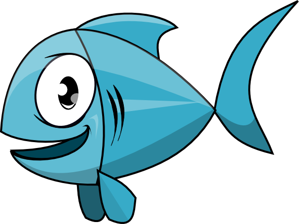 Free cartoon fish cliparts. Seafood clipart animated