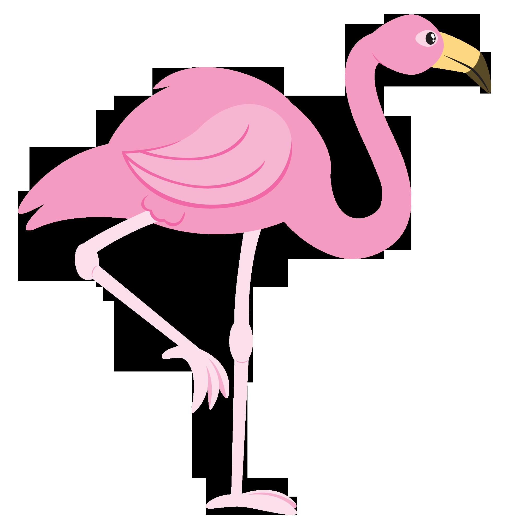 Pink flamingo cartoon stuff. Galaxy clipart kid