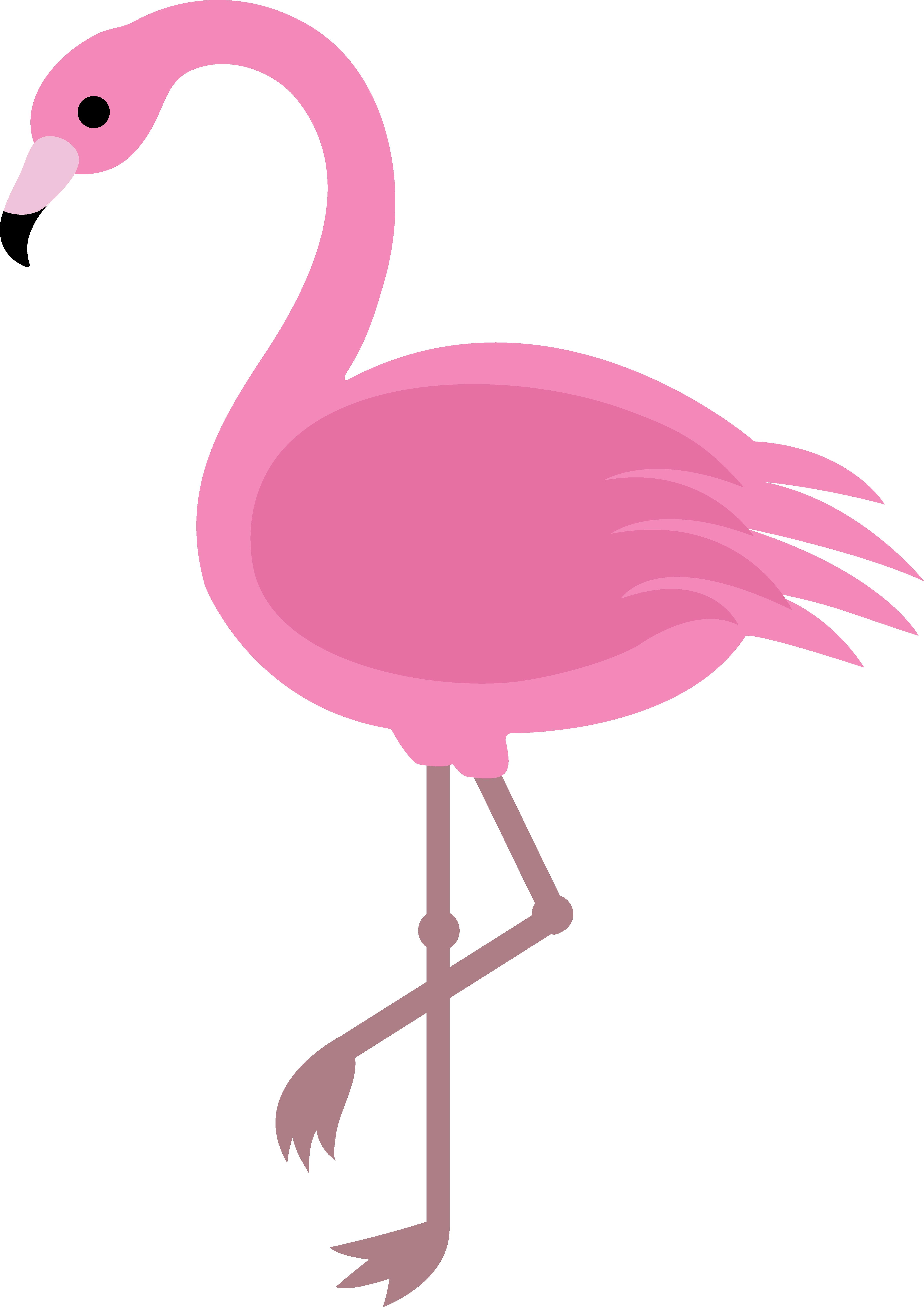 Cartoon . Flamingo clipart glamper
