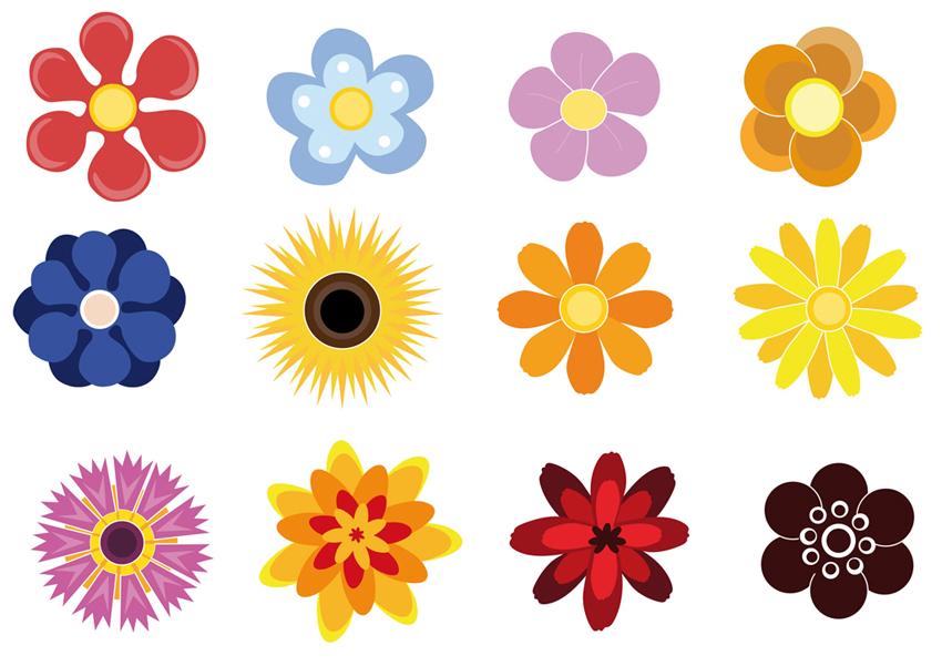 clipart flower scrapbook