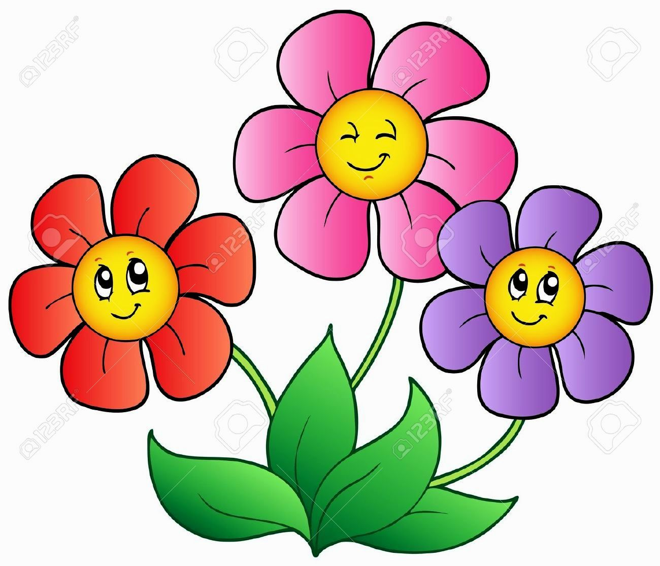 Pictures of flowers visit. Flower clipart cartoon