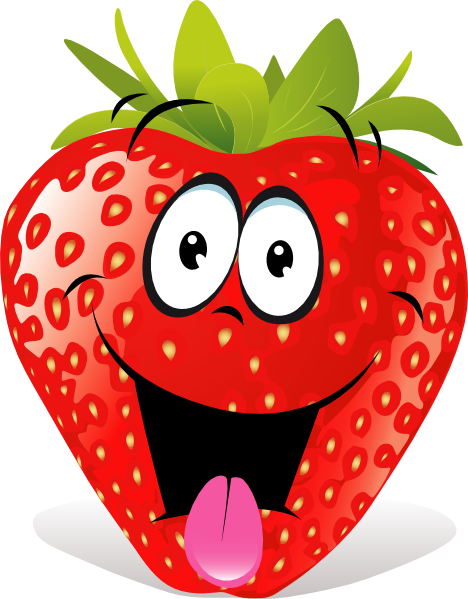 Strawberries clipart. Strawberry fruit cartoon clip