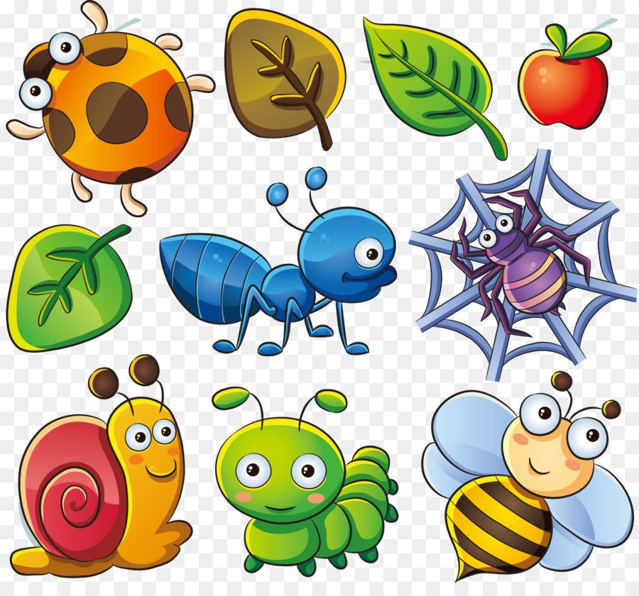 Clip art cute bug. Cartoon clipart insect
