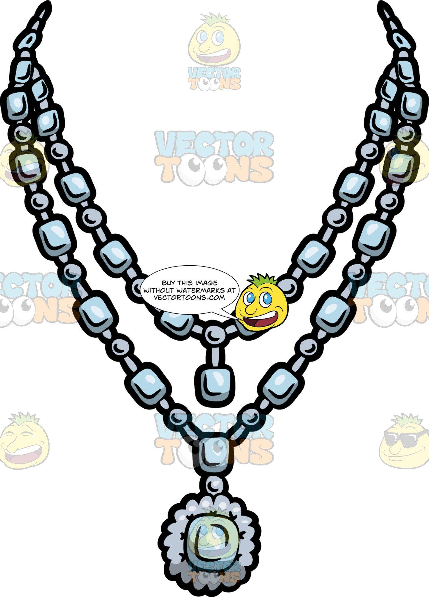 Diamonds clipart jewelry. An expensive diamond necklace