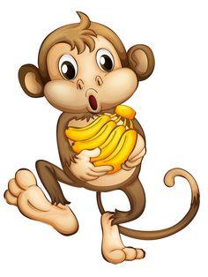 Clip art free pinterest. Cartoon clipart monkey