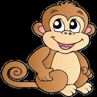Cute cartoon monkeys clip. Burrito clipart happy