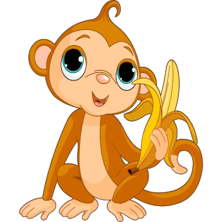 Cartoon clipart monkey. Free cliparts download clip