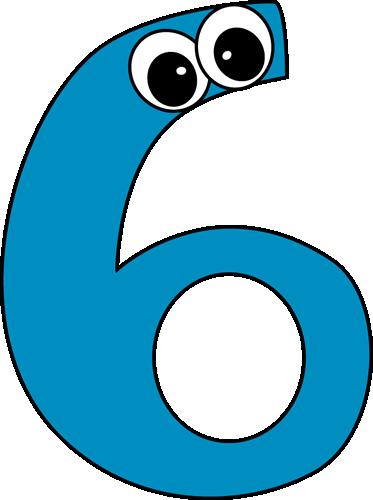 Clip art images cartoon. Number 4 clipart six