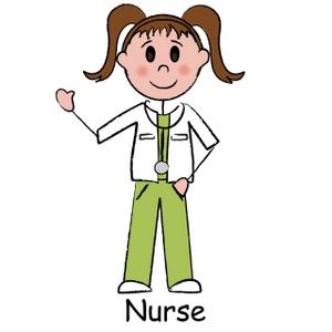Image girl child dressed. Cartoon clipart nurse