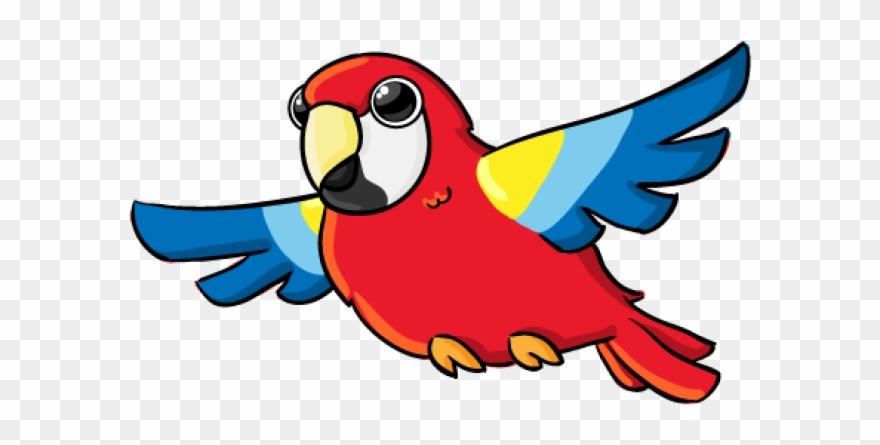Free cartoon gross motor. Parrot clipart wild bird