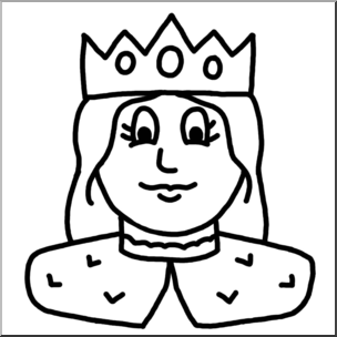 Queen clipart face. Clip art cartoon faces