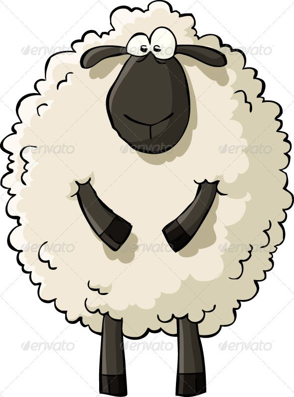 Lamb clipart vector. Sheep characters lambs and