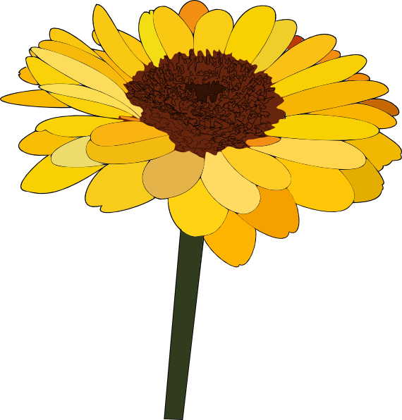 Free cartoon cliparts download. Clipart png sunflower