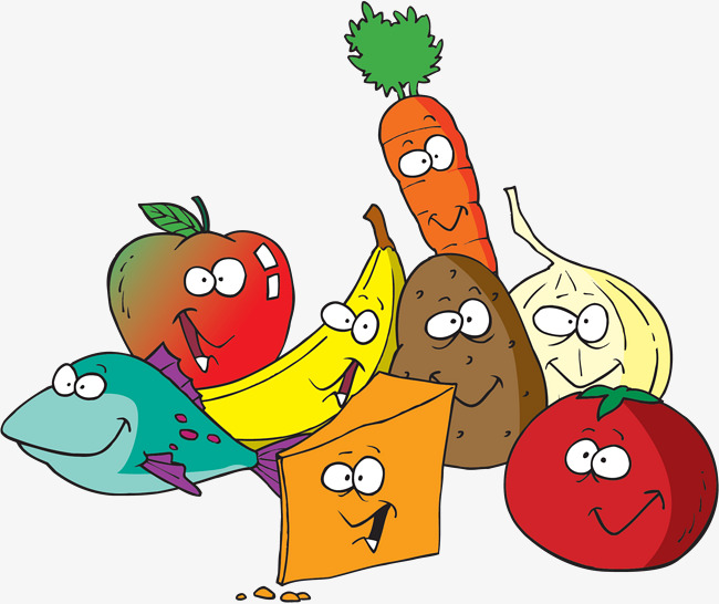 Fruits and vegetables carrot. Cartoon clipart vegetable
