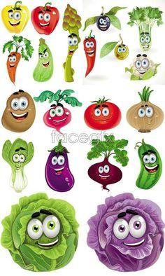 Cartoon clipart vegetable. Drawings of vegetables fruit