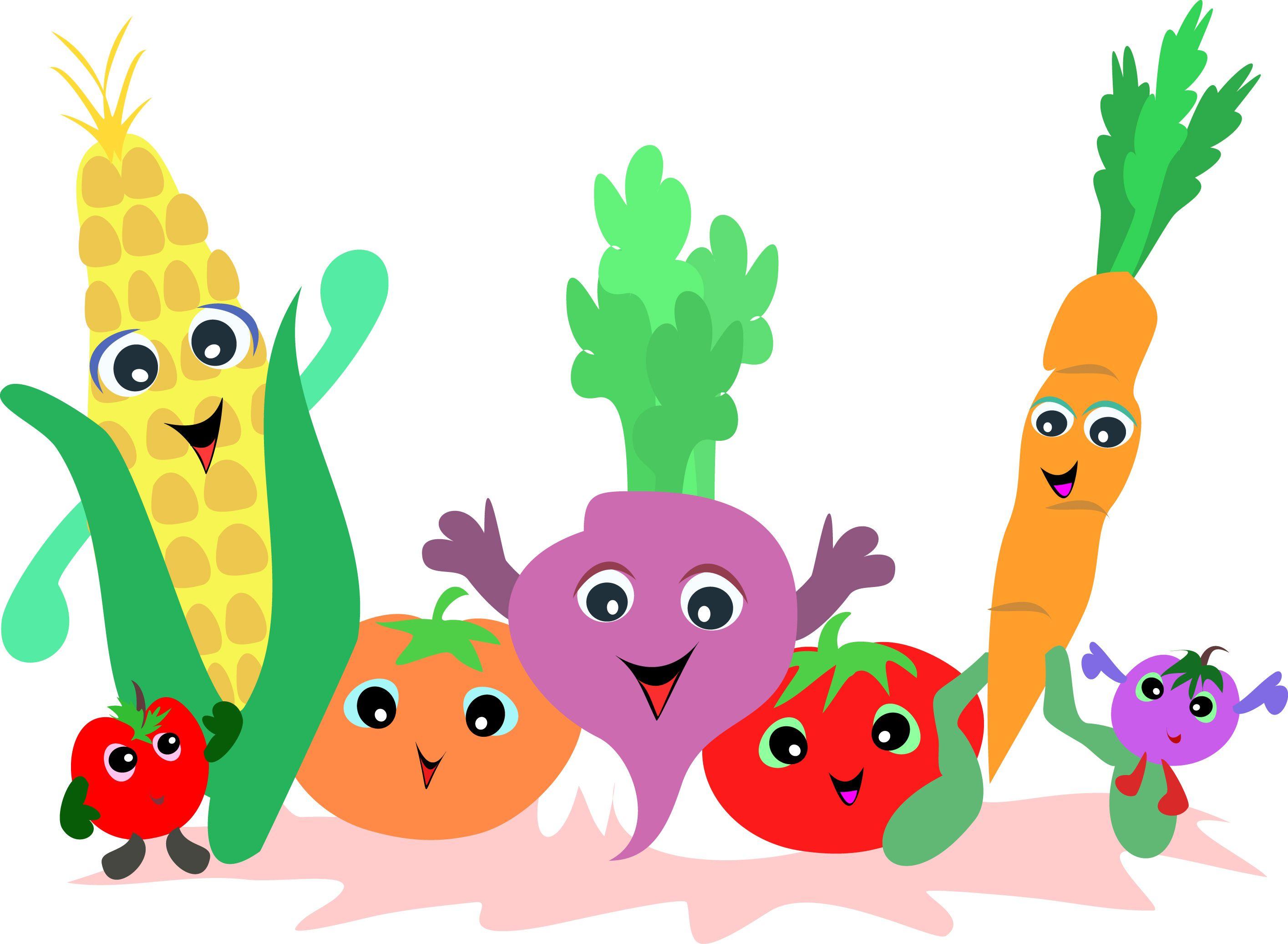Cartoon clipart vegetable. Free preschool clip art