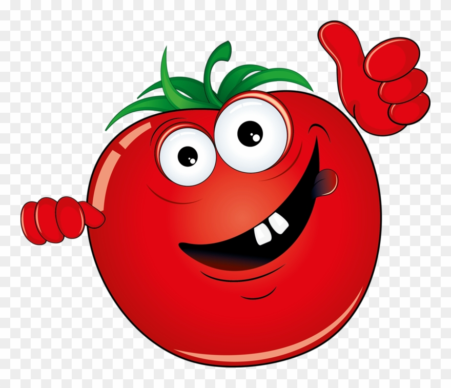 Vegetable illustration red banner. Clipart vegetables cartoon