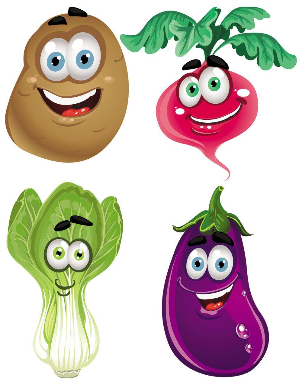 Cartoon clipart vegetable. Fresh vegetables clip art