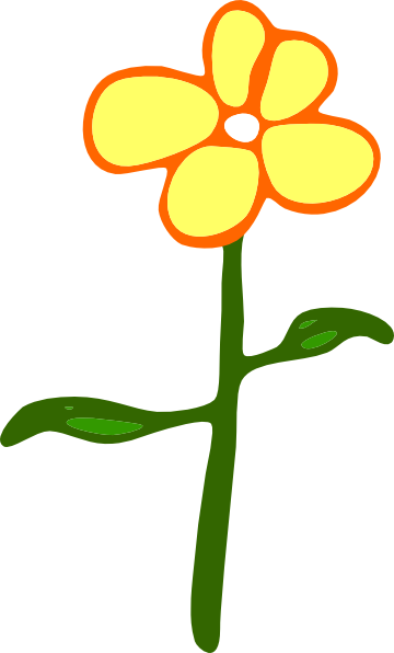 Cartoon flower png. Yellow clip art at
