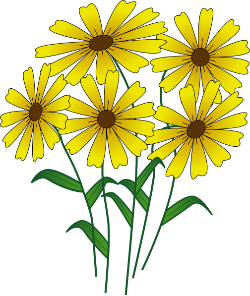 Flowers clip art vector. Cartoon flower png
