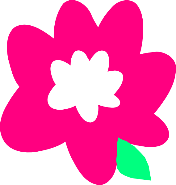 Pink clip art at. Cartoon flower png