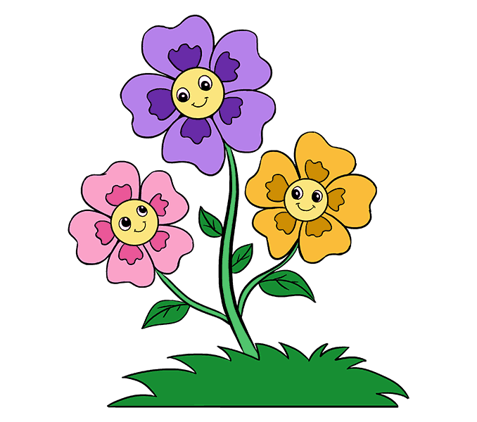 Cartoon flower png. How to draw flowers