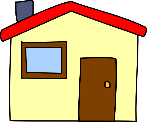 Simple clip art at. Cartoon house png