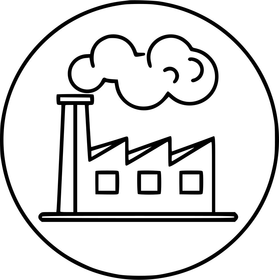 Cartoon smoke png. Factory industry polution svg