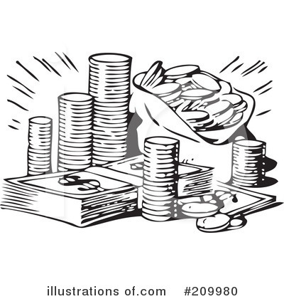 Money illustration by bestvector. Cash clipart black and white