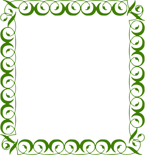 Free frames and borders. Green frame png