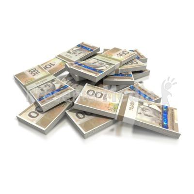 Hundred dollar bill pile. Cash clipart cash canadian
