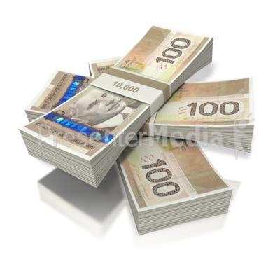 Cash clipart cash canadian. Money three bundles business