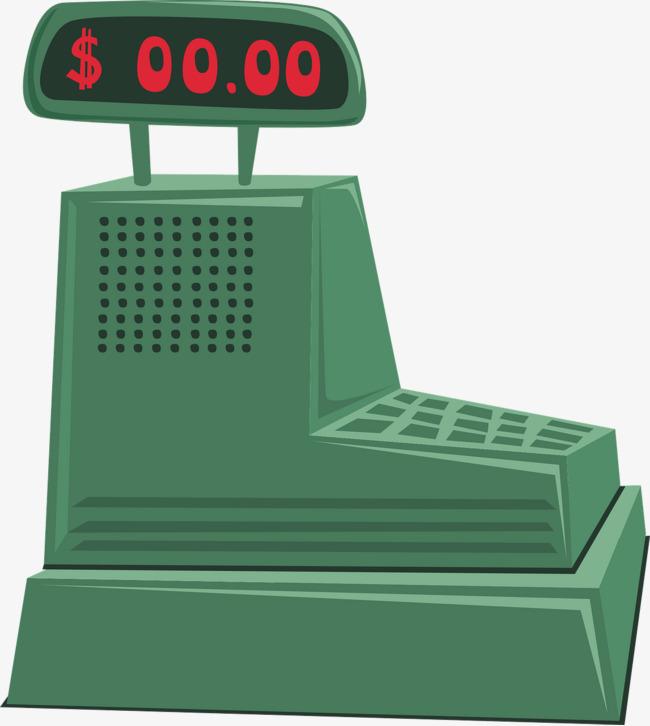 Green cashier supermarket png. Cash clipart cash register