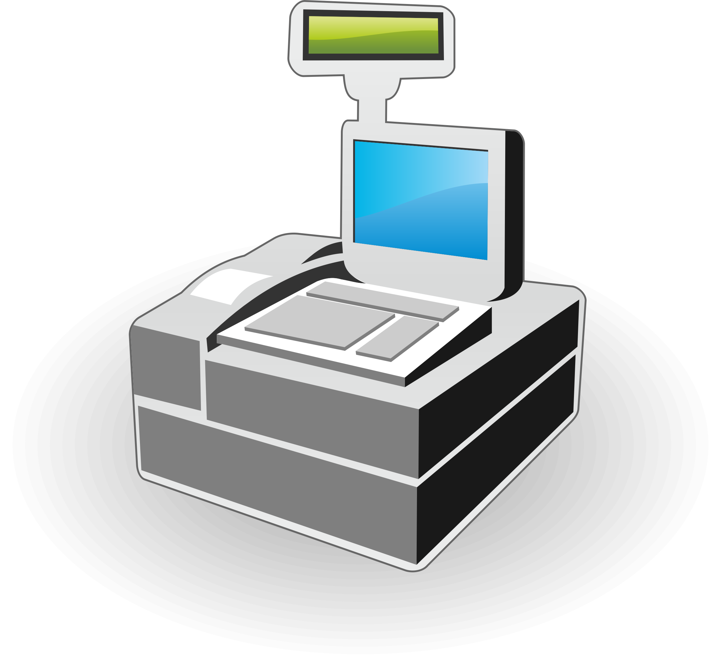 Cash register icon big. Electronics clipart electronic product