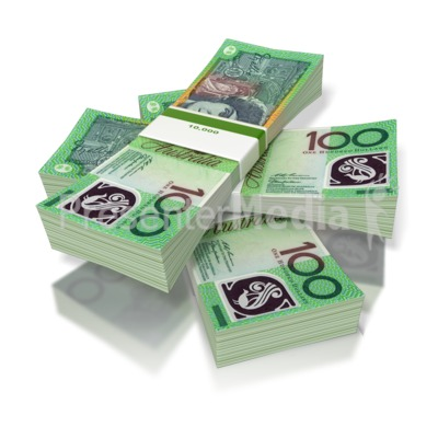 Money three australian business. Cash clipart cash stack
