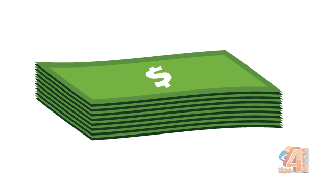 Cash clipart cash stack. Of money drawing at
