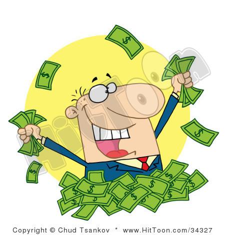 Pile of money panda. Cash clipart clip art