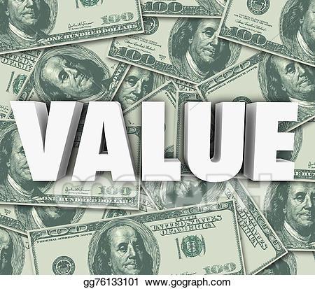 Value d word money. Cash clipart cost
