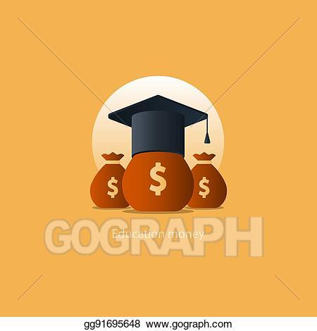 Cash clipart cost. Vector illustration scholarship grant