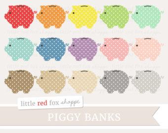 Save money etsy piggy. Cash clipart cute