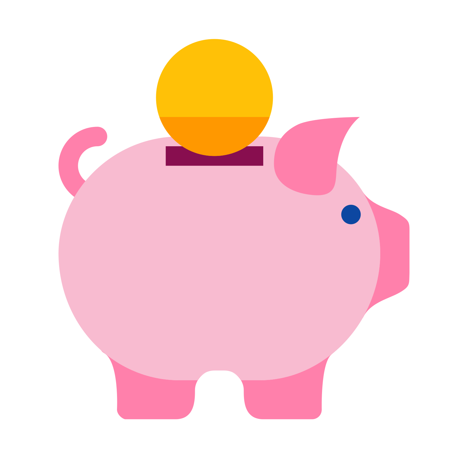 Words clipart money. Cute piggy bank free