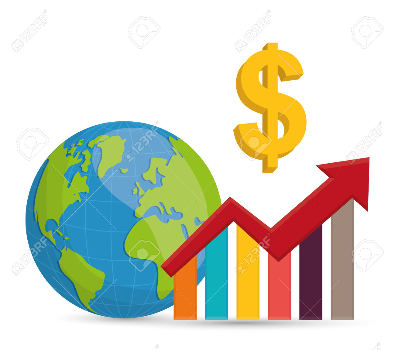 Cash clipart economics.  collection of global
