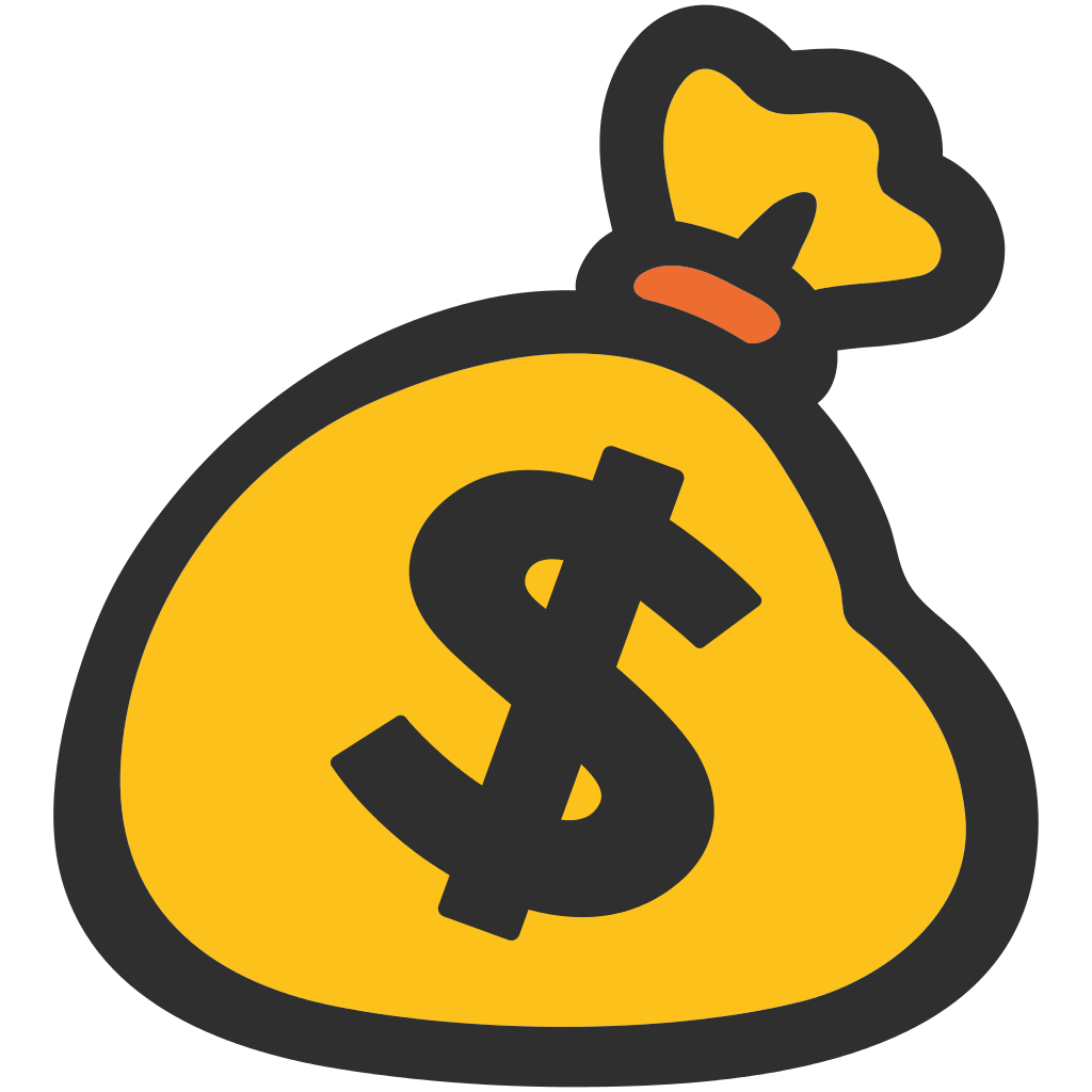 Emoji transparent stickpng icons. Money bag png