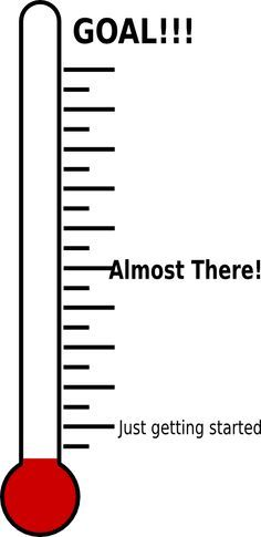 Money thermometer template best. Cash clipart fundraising