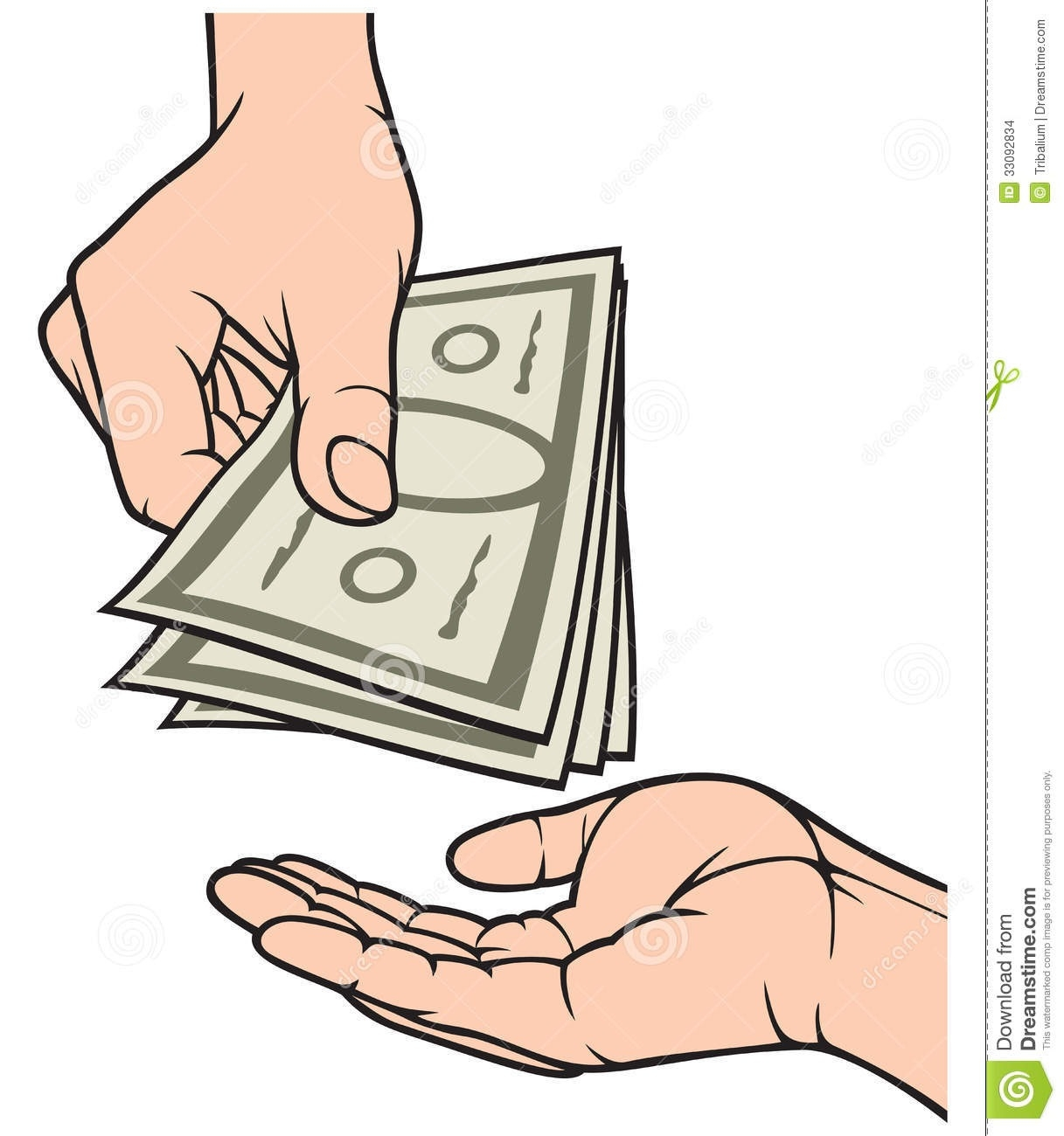 cash clipart hand clipart