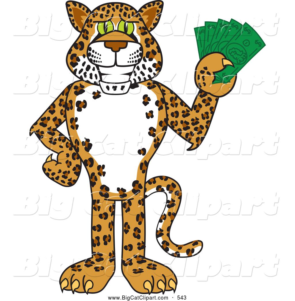 Cash clipart kid. Leopard mascot