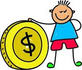 Spending money panda free. Cash clipart kid