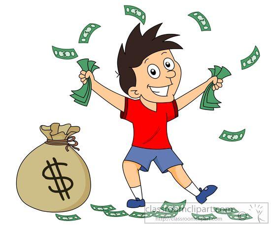 cash clipart kid