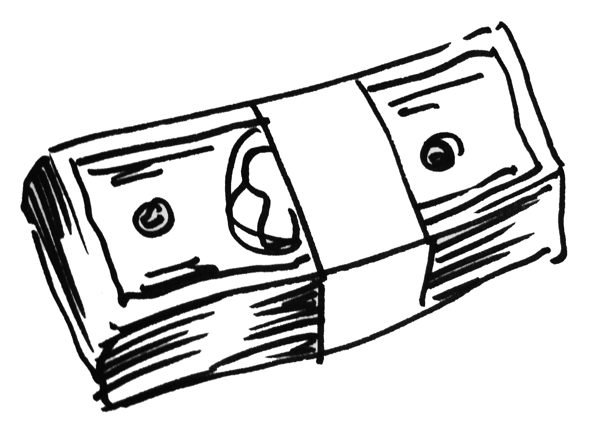 Cash clipart line. Drawing at getdrawings com
