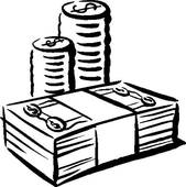 Cash clipart line. And coins b w